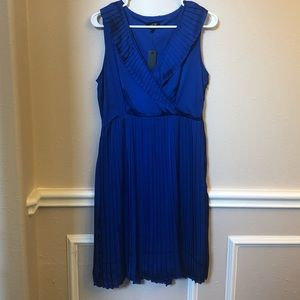 NWT Apt 9 Crystal Pleated Wrap Dress (L)
